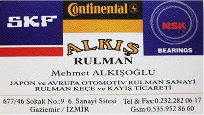 ALKIŞ RULMAN BUCA